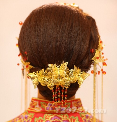 中式新娘发型图片欣赏